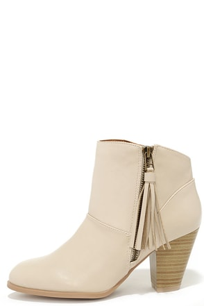 Nitty Pretty Taupe High Heel Ankle Boots at Lulus.com!