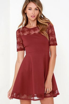 Black Swan Clarice Wine Red Dress at Lulus.com!