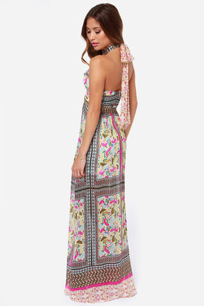 Get Her to the Greek Print Maxi Dress at Lulus.com!