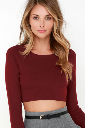 Coast to Boast Dark Grey Crop Sweater at Lulus.com!