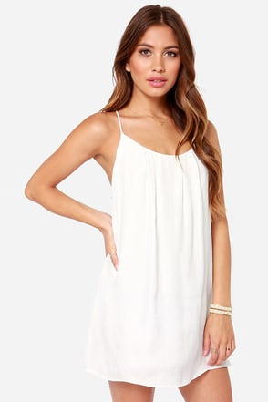Lucy Love Take Me to Dinner Ivory Dress