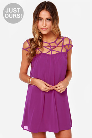 LULUS Exclusive All the Cage Magenta Purple Dress