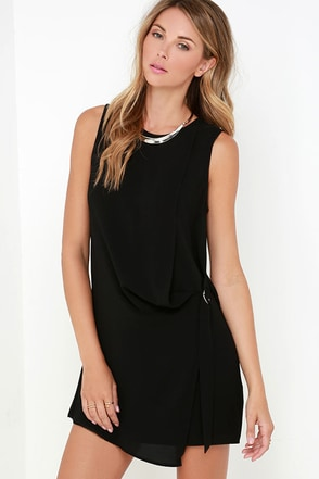 Lady is a Vamp Black Belted Dress at Lulus.com!