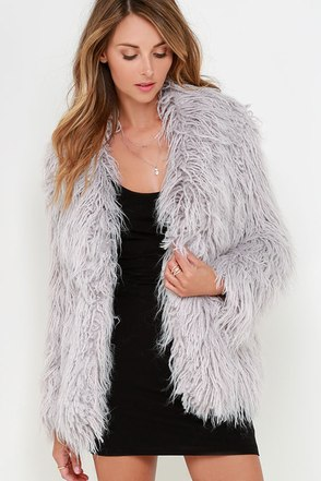 Glamorous Cavern Corners Grey Faux Fur Coat at Lulus.com!