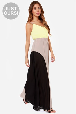 LULUS Exclusive By Your Side Mint Color Block Maxi Dress