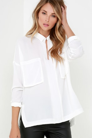 Fast Forward Ivory Long Sleeve Top at Lulus.com!