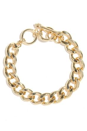 Let Me Upgrade You Gold Chain Bracelet at Lulus.com!