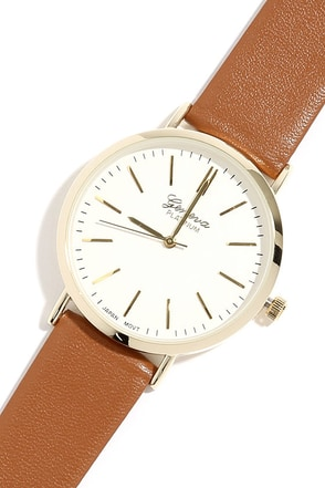 Point in Time Black and Tan Watch at Lulus.com!