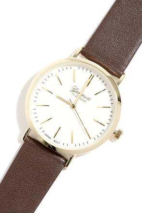Point in Time Gunmetal and Tan Watch at Lulus.com!