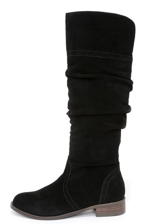 Very Volatile Pirata Grey Suede Leather Knee-High Boots at Lulus.com!