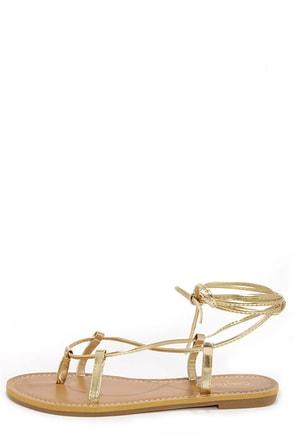 Armin 24 Gold Leg Wrap Sandals