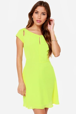 Lost in the Light Chartreuse Dress