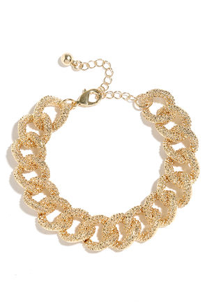 Unbreakable Bond Gold Chain Bracelet at Lulus.com!