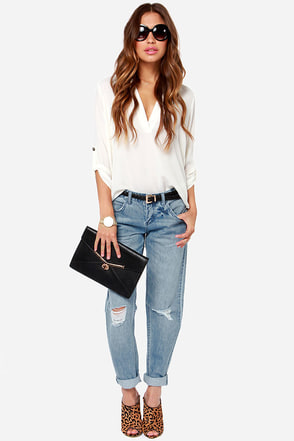 Billabong Boyfriend Distressed Boyfriend Jeans