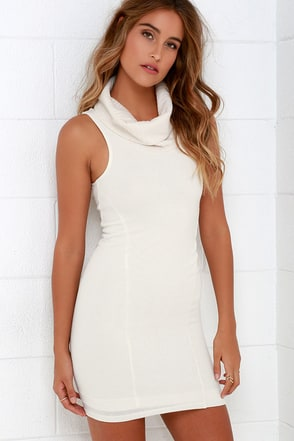 Close for Comfort Cream Sweater Dress at Lulus.com!