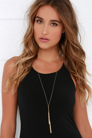 Speakeasy Peasy Gold Tassel Necklace at Lulus.com!