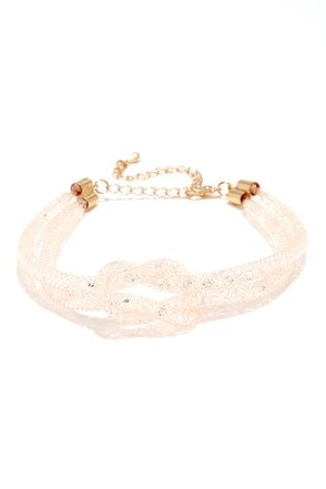 Flossy Flair Gold Rhinestone Bracelet at Lulus.com!
