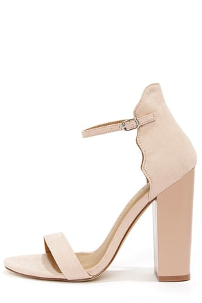 Chinese Laundry Sea Breeze Soft Pink High Back Ankle Strap Heels