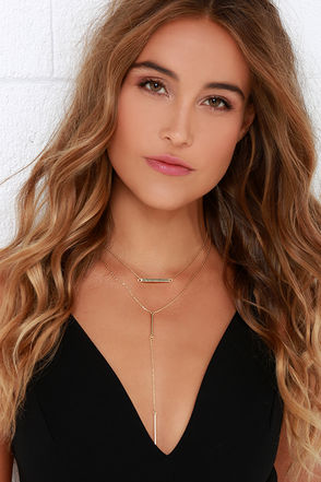 How Lucky Are We Gold Layered Necklace at Lulus.com!