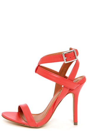 Rosita 3 Red Ankle Strap Dress Sandals