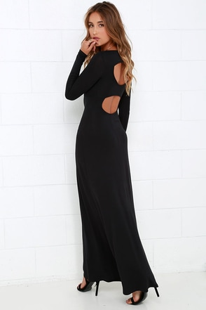 RVCA Leelou Black Long Sleeve Maxi Dress at Lulus.com!