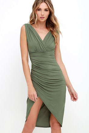 Partington Cove Beige High-Low Wrap Dress at Lulus.com!