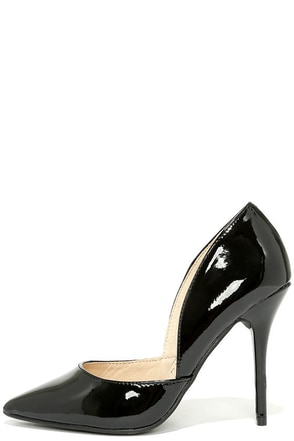 Chinese Laundry Stilo Black Patent D'Orsay Pumps at Lulus.com!