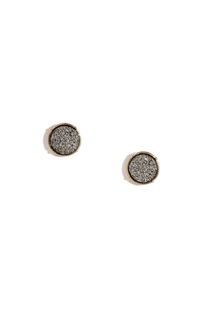 Quarry Hymn Gunmetal Earrings at Lulus.com!