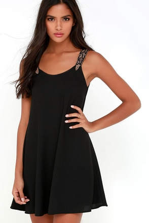 Tribute to Perfection Black Beaded Dress at Lulus.com!
