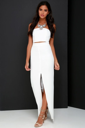 Better than a Sequel Ivory Two-Piece Dress at Lulus.com!