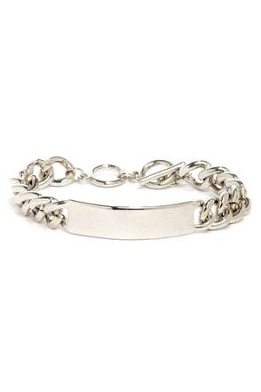 I.D. Lux Silver ID Bracelet