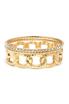 Young Mula Gold Bangle Set
