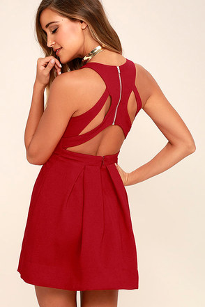 Test Drive Wine Red Dress at Lulus.com!