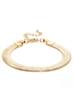 Hyper-Slink Gold Bracelet