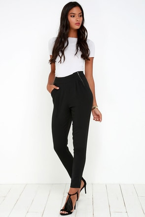 All About That Sass Black Trouser Pants at Lulus.com!
