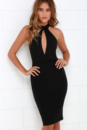 Key to Success Black Bodycon Dress at Lulus.com!