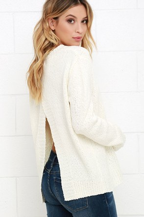 Let's Get Lounge Ivory Sweater at Lulus.com!