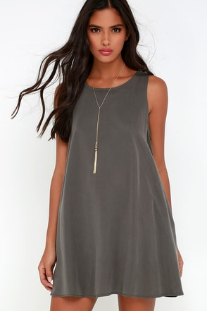 You Don't Sway Grey Swing Dress at Lulus.com!