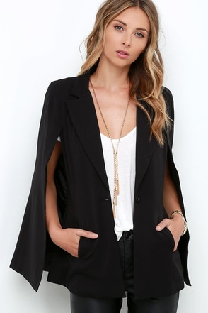 Cloak and Mirrors Black Cape at Lulus.com!