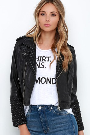 Obey Caveat Black Leather Moto Jacket at Lulus.com!