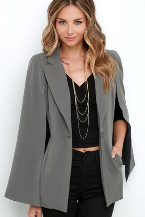 Cloak and Mirrors Olive Cape at Lulus.com!