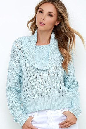 Somedays Lovin' Ralphie Light Blue Crop Sweater at Lulus.com!