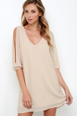 Shifting Dears Olive Green Long Sleeve Dress at Lulus.com!