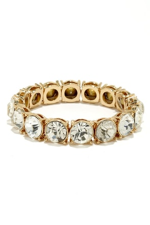 Trademark Treasure Gold Rhinestone Bracelet at Lulus.com!