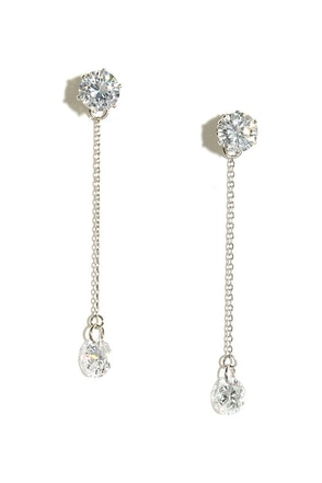 Studly Gold Rhinestone Earrings at Lulus.com!