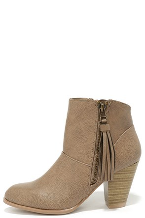 Nitty Pretty Stone High Heel Ankle Boots at Lulus.com!