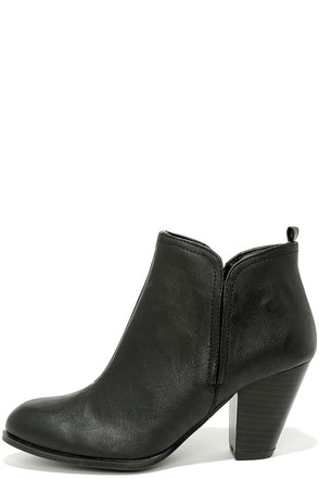 Looking Sharp Black High Heel Ankle Boots at Lulus.com!