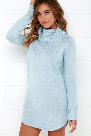 Good and Plenty Light Blue Sweater Dress at Lulus.com!