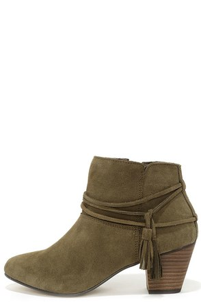 Chelsea Crew Bash Khaki Suede Leather Booties at Lulus.com!