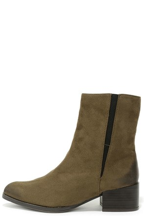 Let It Be Chic Khaki Pointed Mid-Calf Boots at Lulus.com!